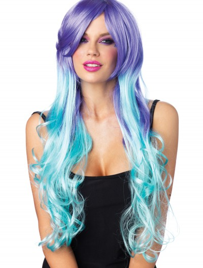 Moonlight Long Curly Wig With Optional Pony Tail Clips buy now