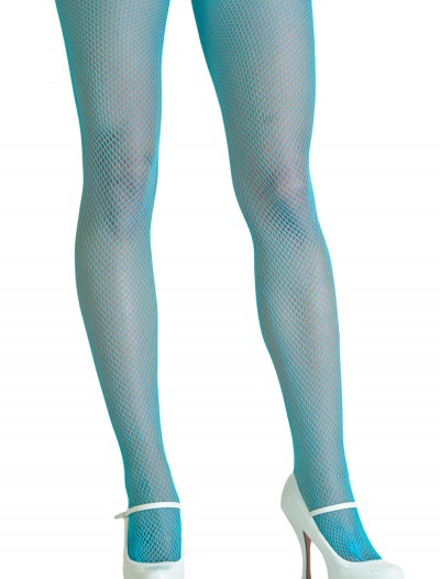 Neon Blue Fishnet Tights buy now