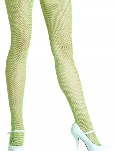 Neon Green Fishnet Tights buy now