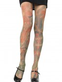 Opaque Tattoo Print Pantyhose buy now