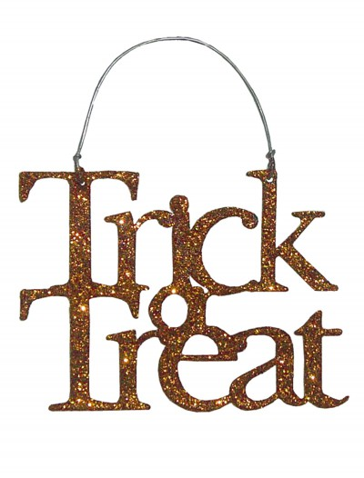 Orange Trick or Treat Sign buy now