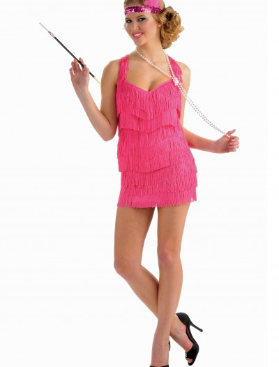 Pink Lindy Lace Flapper Costume buy now
