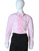 Pink Ruffled Tuxedo Shirt buy now