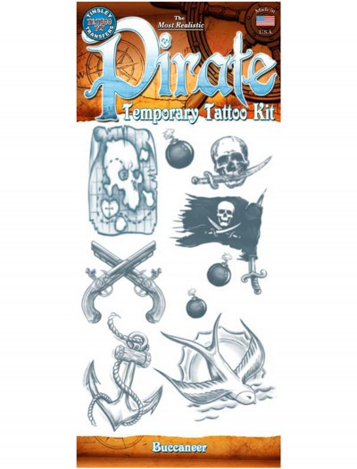 Pirate Buccaneer Temporary Tattoo Kit buy now