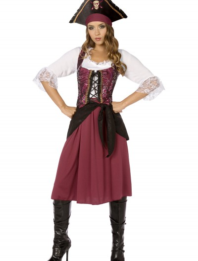Plus Burgundy Pirate Wench Costume buy now