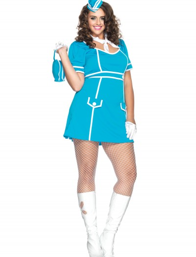 Plus Classy Flight Attendant Costume buy now