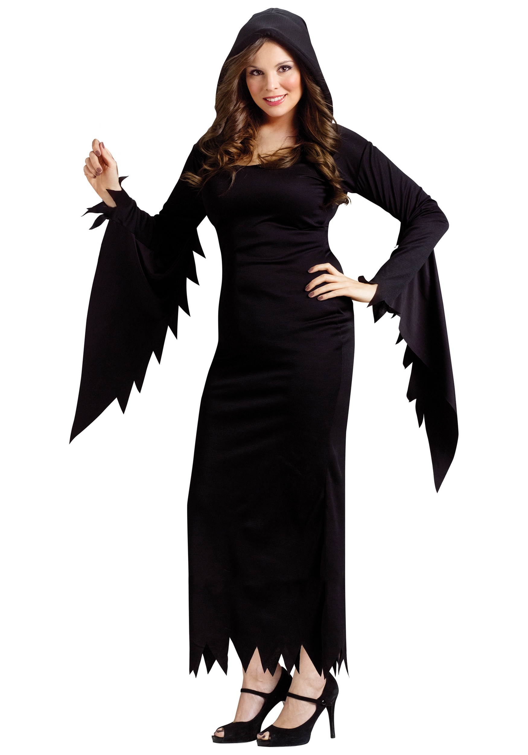 Plus Hooded Gown - Halloween Costumes