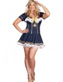Plus Size Navy Pin Up Sailor Costume buy now