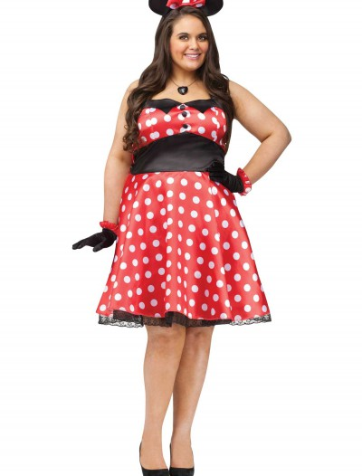 Plus Retro Miss Mouse Costume buy now