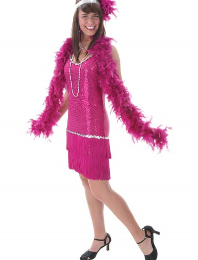 Plus Sequin & Fringe Fuchsia Flapper buy now