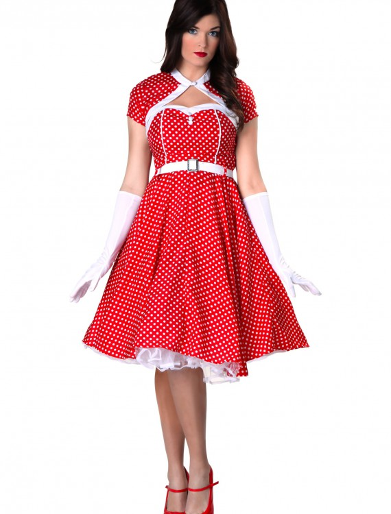 Plus Size 1950s Sweetheart Dress Costume buy now