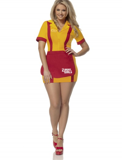 Plus Size 2 Broke Girls Waitress Costume buy now