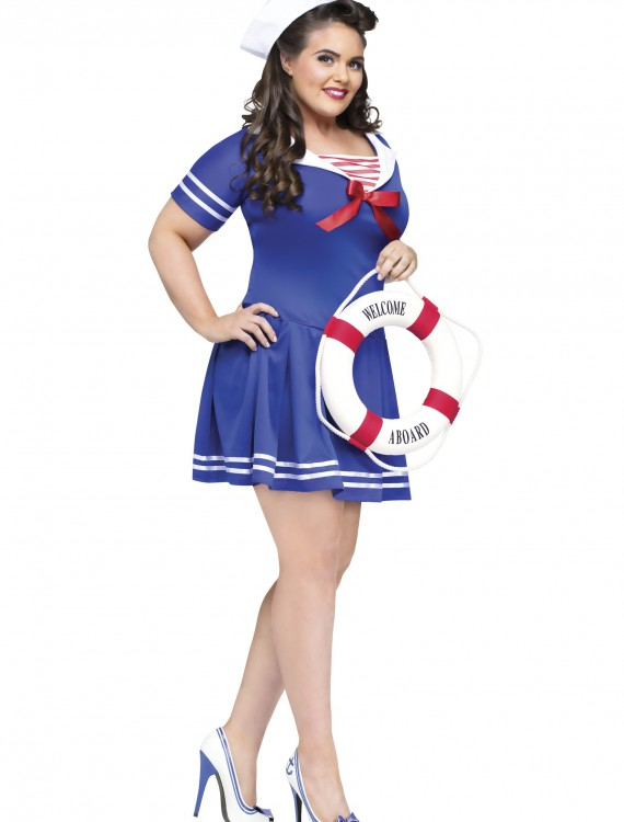 Plus Size Anchors Away Costume buy now