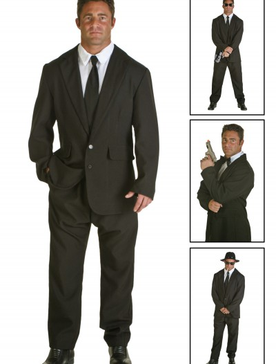 Plus Size Black Suit Costume buy now