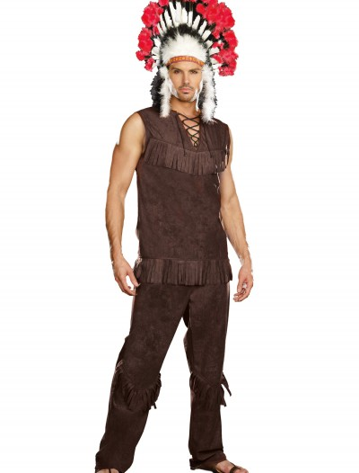 Plus Size Chief Long Arrow Indian Costume buy now
