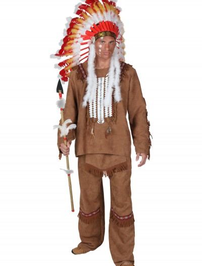 Plus Size Deluxe Mens Indian Costume buy now