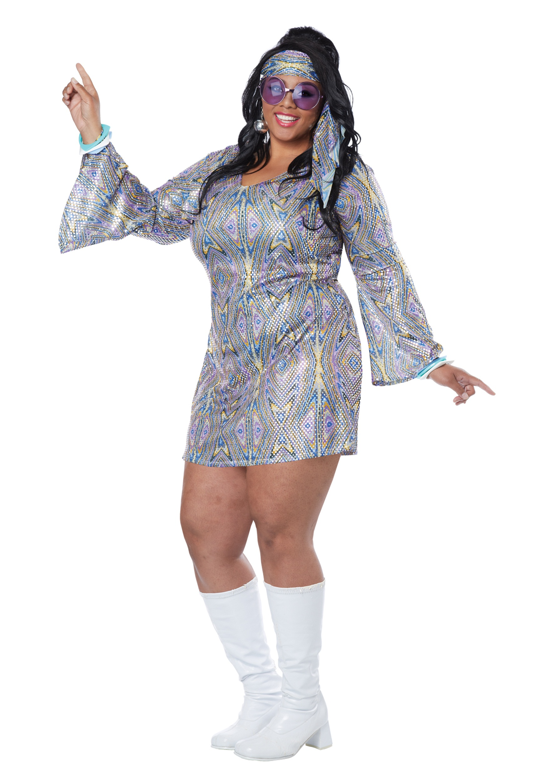 6e698383c0 Disco Halloween Costumes   Image Is Loading Groovy-70-039-s-Disco ...