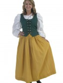Plus Size Gold Peasant Skirt buy now