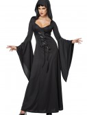 Plus Size Hooded Black Lace Up Robe buy now
