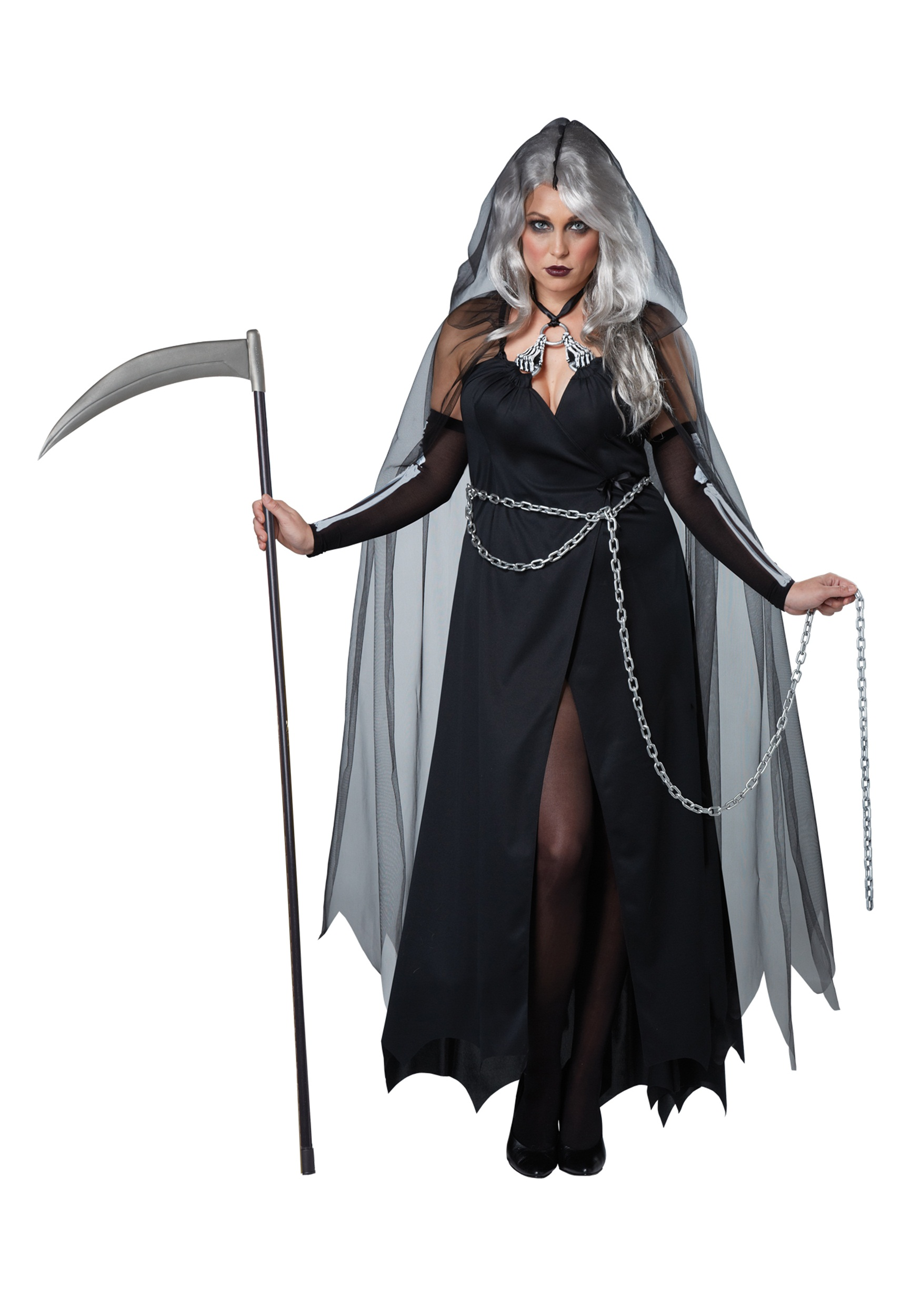 a35df7d01d Women s Plus Size Lady Reaper Costume - Halloween Costumes