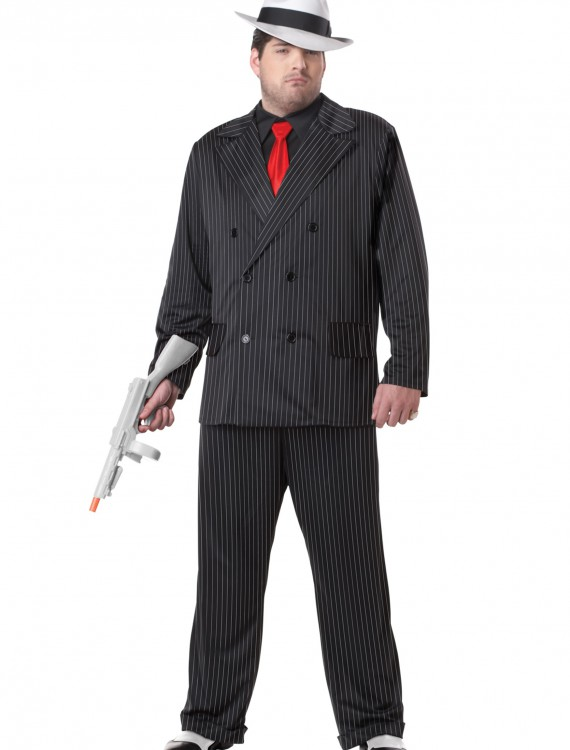 Plus Size Mob Boss Costume buy now