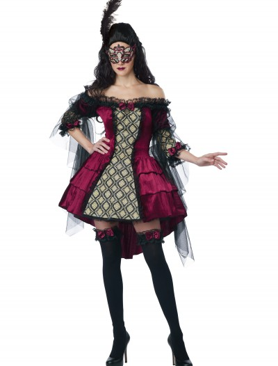 Womens Plus Size Mysterious Masquerade Costume buy now