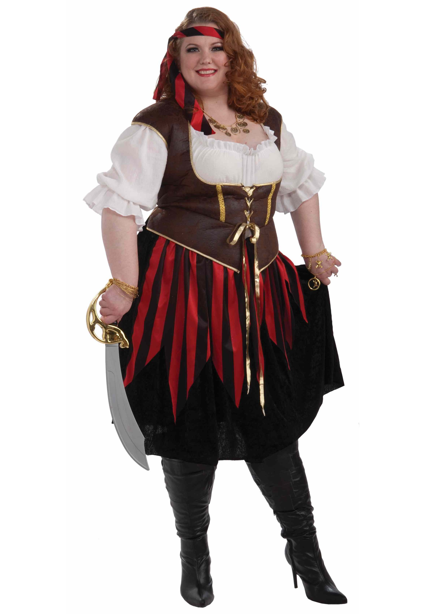 Plus Size Pirate Lady Costume Halloween Costumes