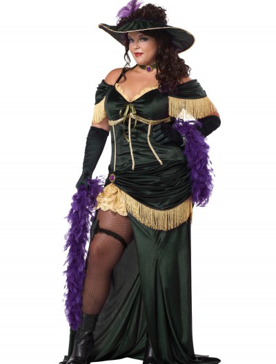 Plus Size Saloon Madame Costume buy now