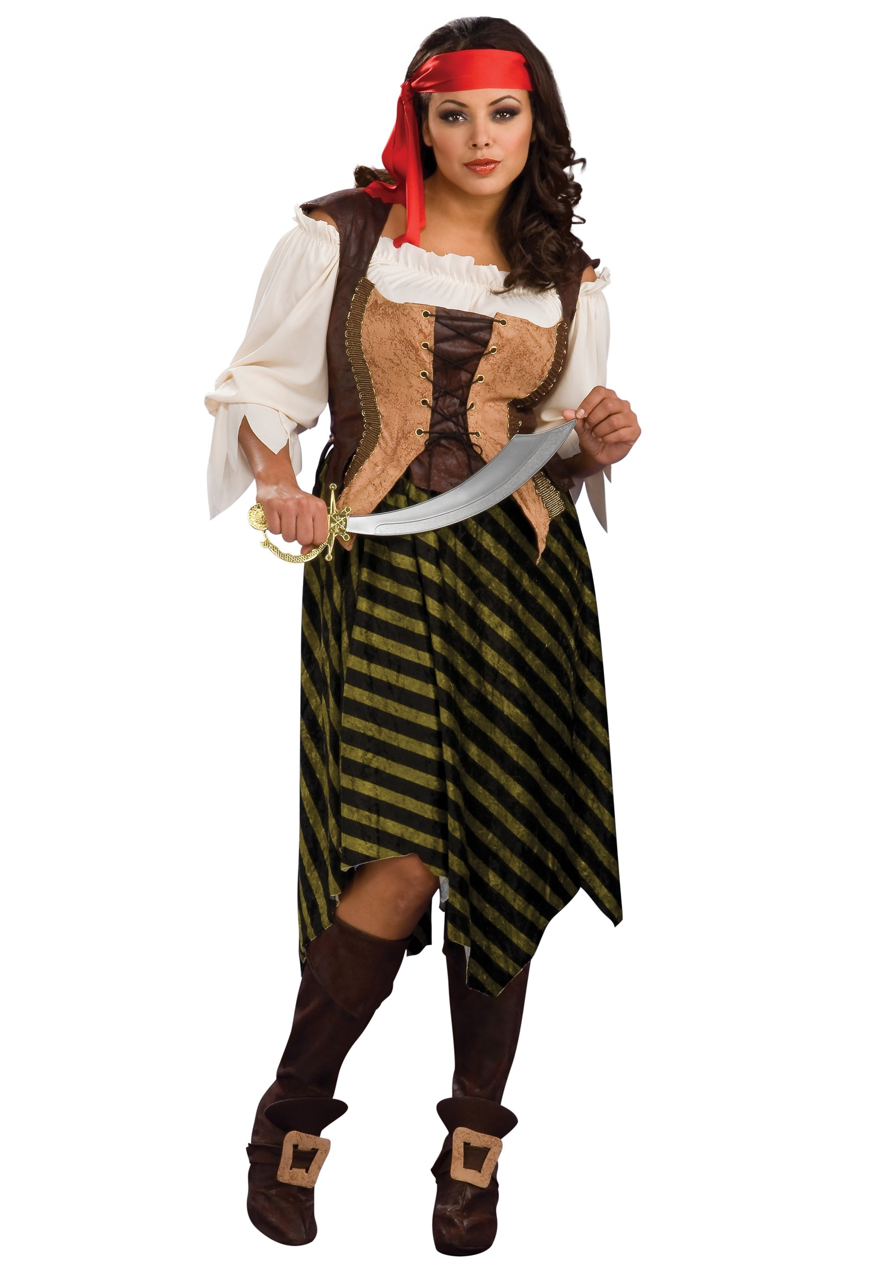 Plus Size Sea Wench Costume Halloween Costumes