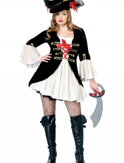 Plus Size Sexy Captain Swashbuckler Costume buy now