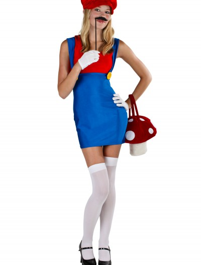 Plus Size Sexy Red Plumber Costume buy now