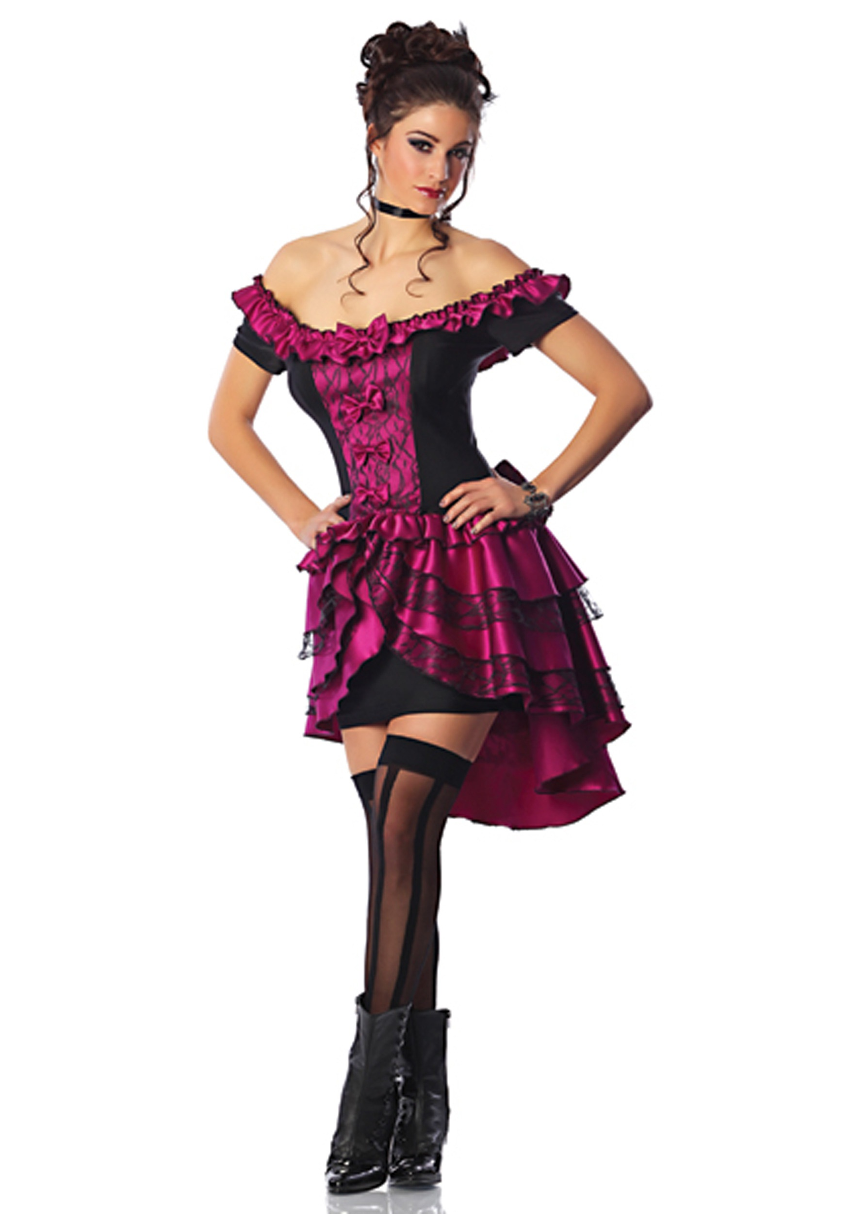 Plus Size Violet Dance Hall Queen Costume Halloween Costumes