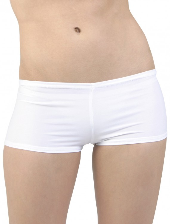 Plus Size White Hot Pants buy now