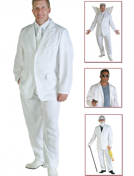 Plus Size White Suit Costume buy now
