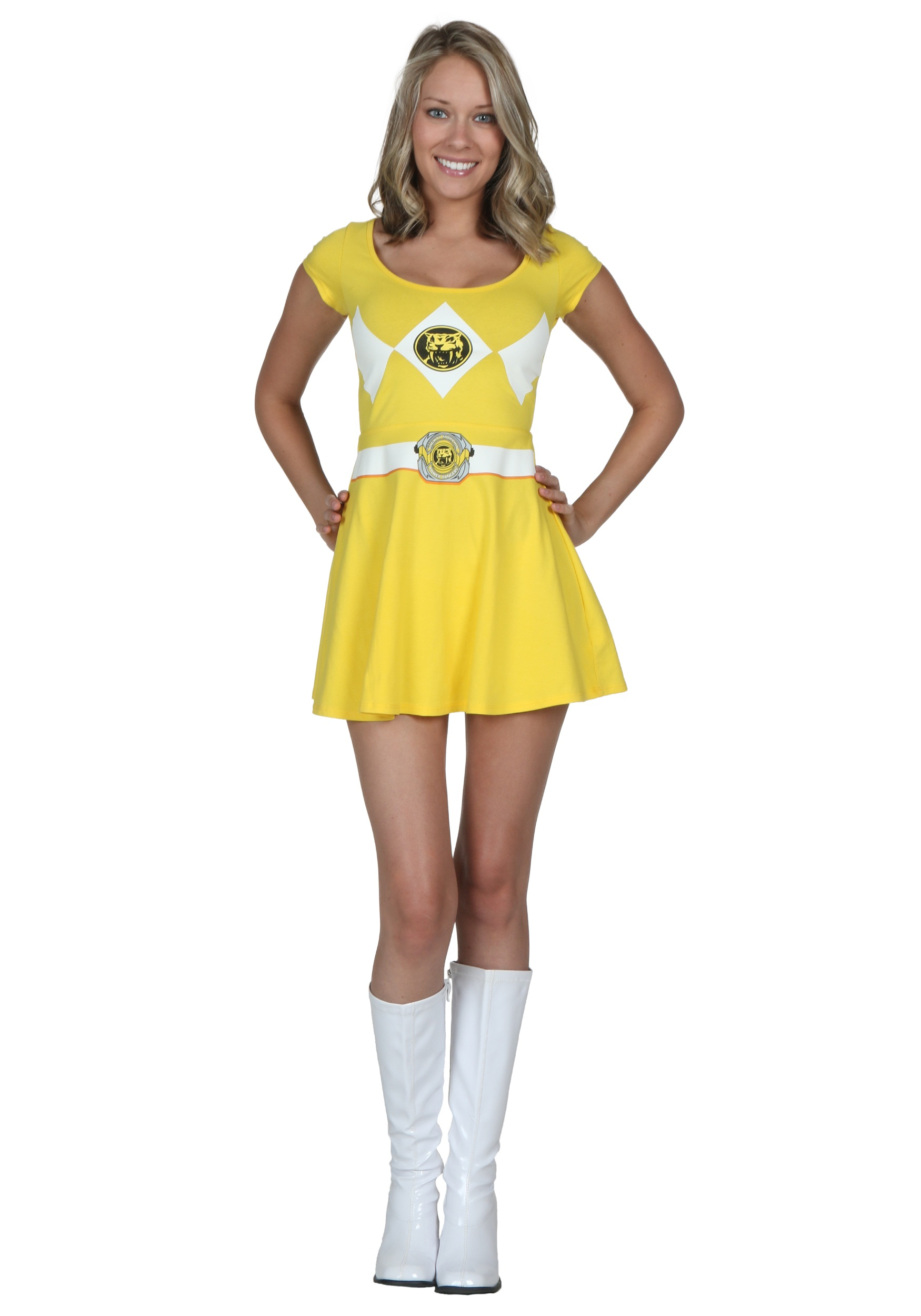 Power Rangers Yellow Ranger Skater Dress