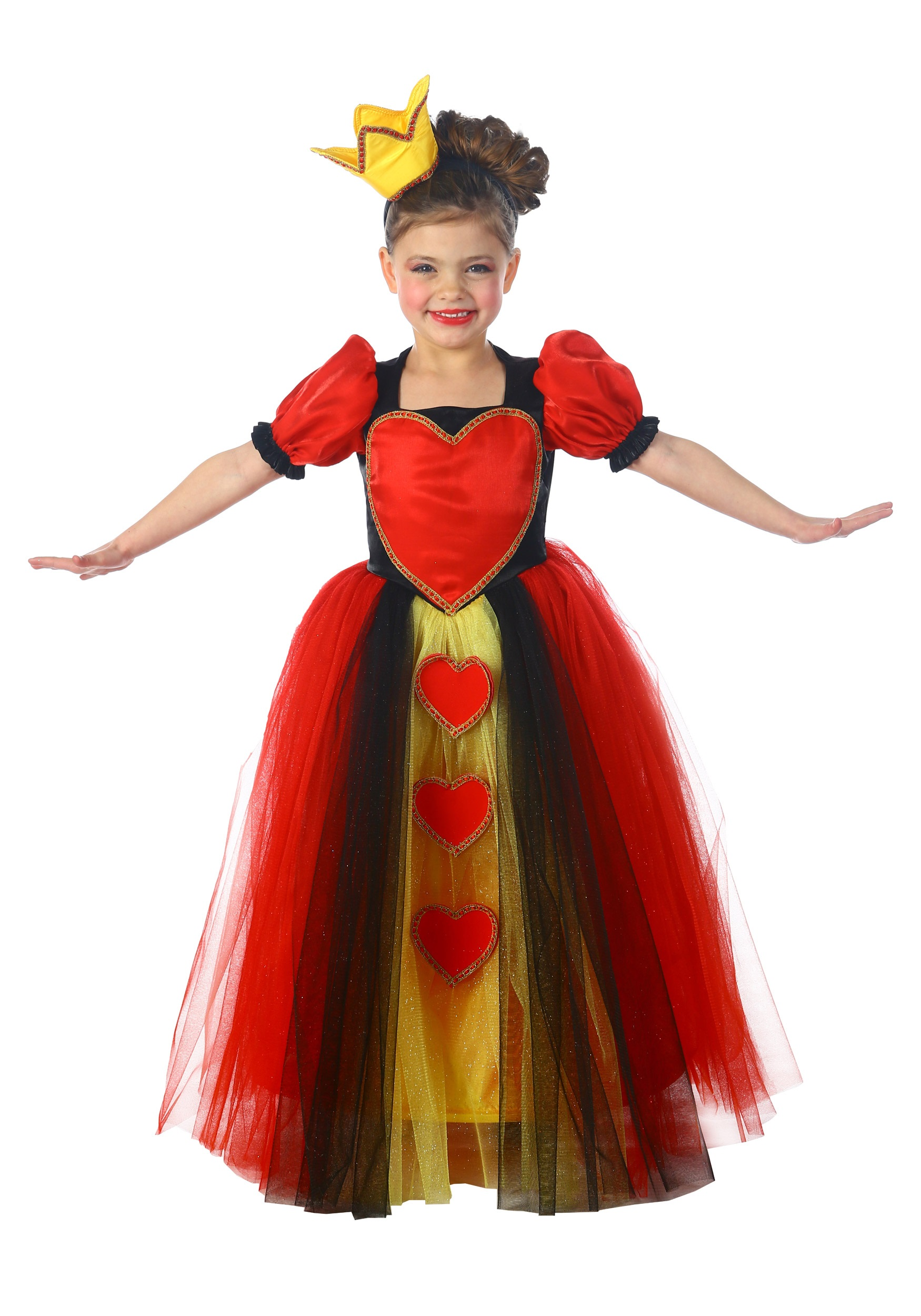 child princess queen of hearts costume