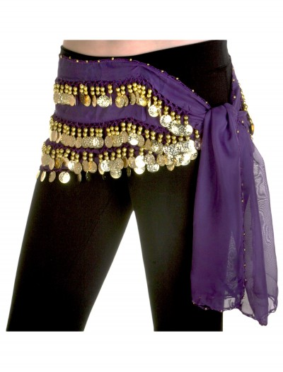 Purple Belly Dance Hip Scarf buy now
