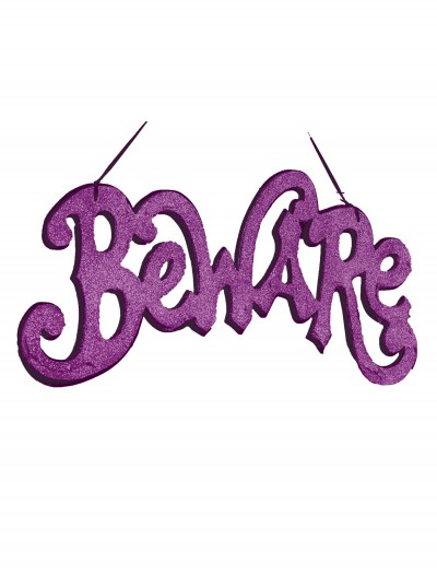 Purple Beware Cutout Sign buy now