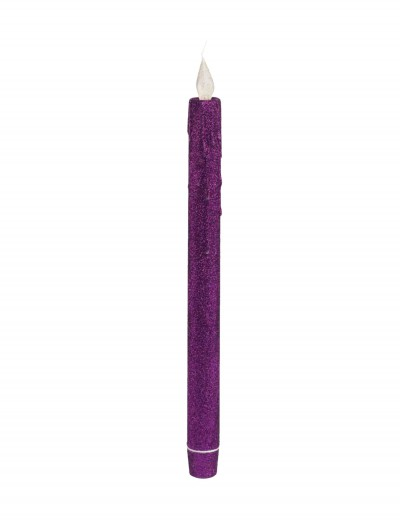 Purple Glitter Taper LED Candle buy now
