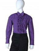 Purple Ruffled Tuxedo Shirt buy now