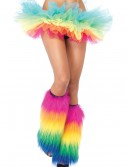 Rainbow Furry Leg Warmers buy now