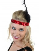 Red and Black Flapper Headband buy now