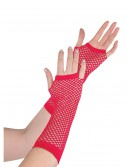 Red Fishnet Long Gloves buy now