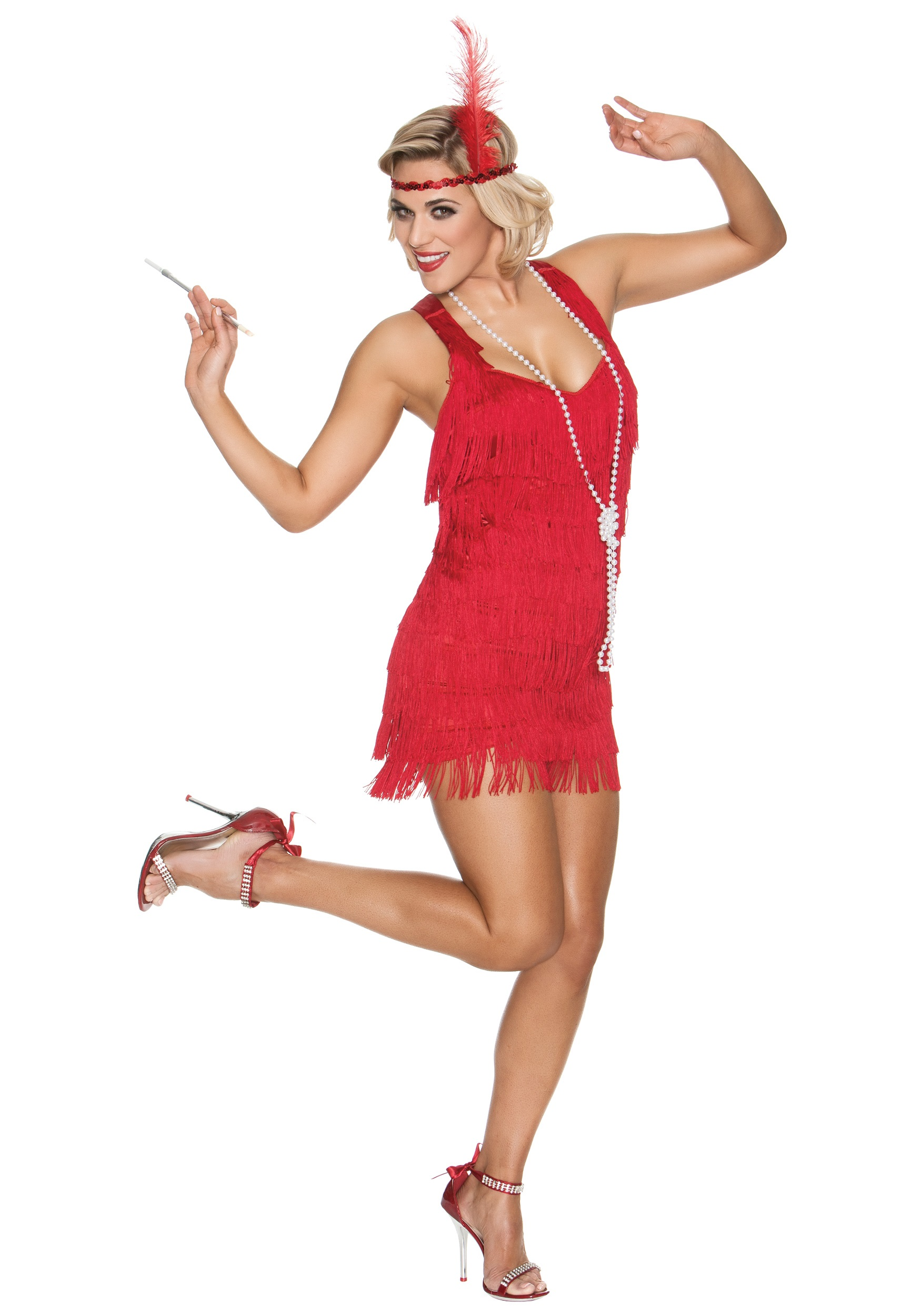 Red Lindy Lace Flapper Costume  sc 1 st  Halloween Costumes & Red Lindy Lace Flapper Costume - Halloween Costumes
