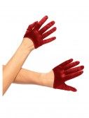Red Mini Cropped Satin Gloves buy now