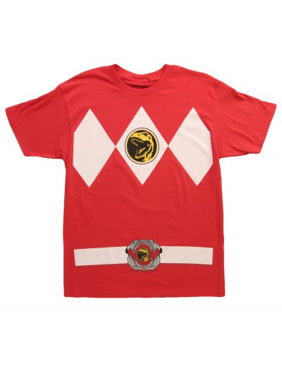 Red Power Ranger Costume T-Shirt buy now
