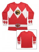 Red Power Rangers Long Sleeve Costume Shirt buy now