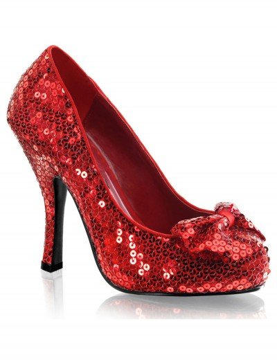 Red Sequin High Heels buy now
