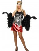 Red/Silver/Black Sequin Flapper Costume buy now