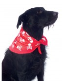 Red Skulls and Bones Bandana Pet Costume buy now